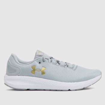 Under Armour Light Grey Charged Pursuit 2 Rip Womens Trainers