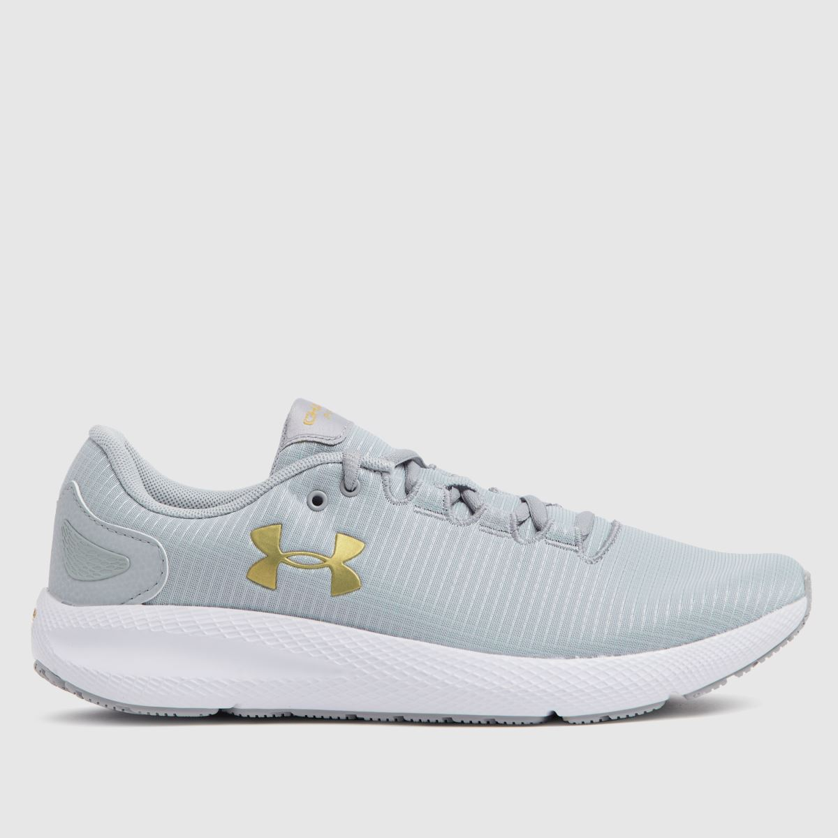 Under Armour Light Grey Charged Pursuit 2 Rip Trainers