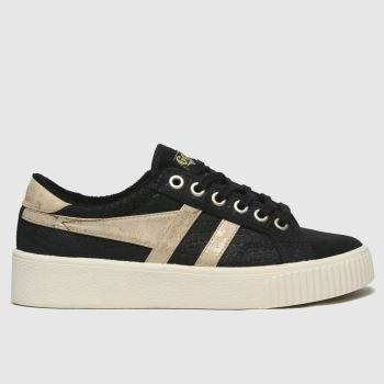 Gola Black & Gold Baseline Mark Cox Mirror Womens Trainers
