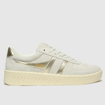 Gola Light Grey Grandslam Pearl Womens Trainers