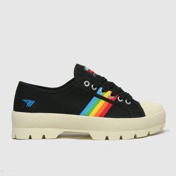 Gola Black Coaster Peak Womens Trainers#