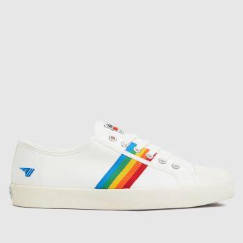 Gola White Coaster Rainbow Trainers