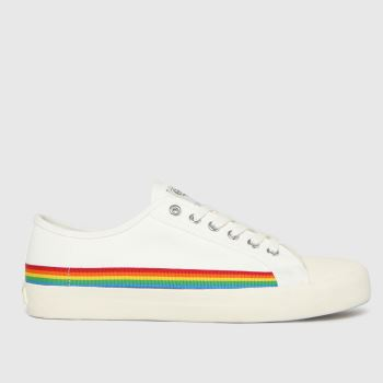Gola White Coaster Rainbow Drop Womens Trainers