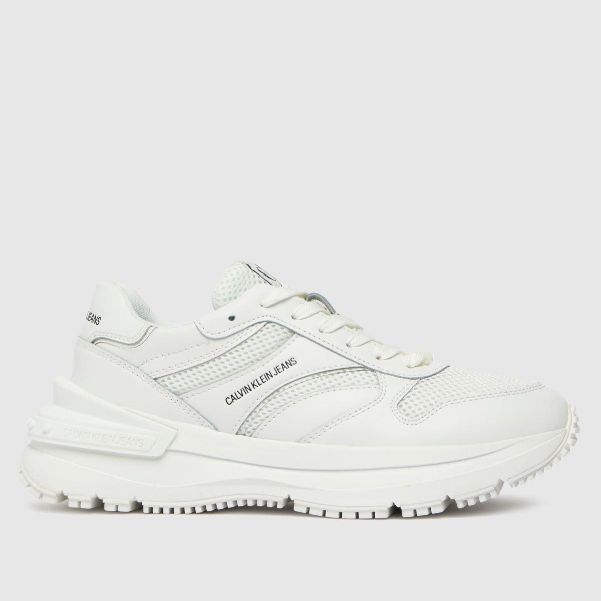 CALVIN KLEIN White Runner Lace Up Sneaker Trainers