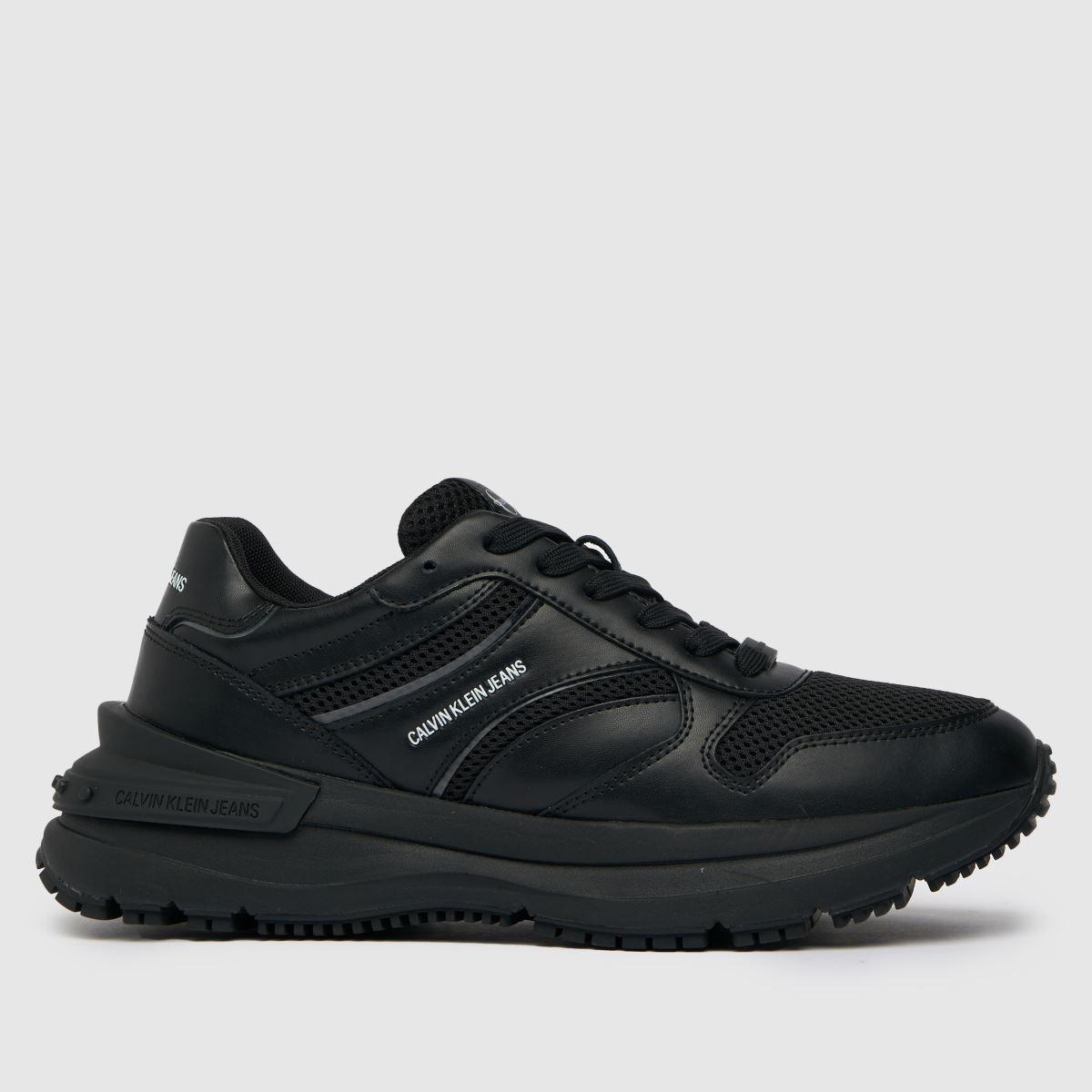 CALVIN KLEIN Black Runner Lace Up Sneaker Trainers