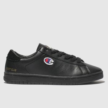 Champion Black Court Club Womens Trainers
