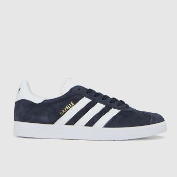 adidas Navy & White Gazelle Suede Womens Trainers