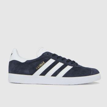 adidas Marineblau-Weiß Gazelle Suede Damen Sneaker