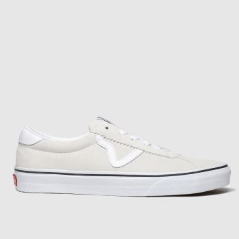 Vans White Sport Suede Womens Trainers
