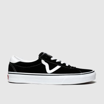 Vans Black & White Sport Suede Womens Trainers