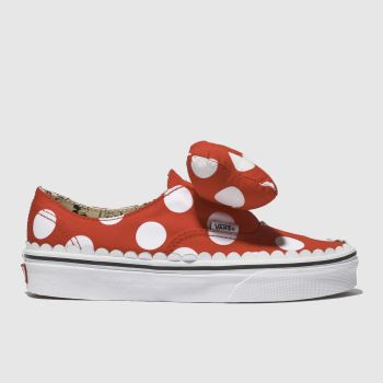 Vans White & Red Authentic Minnie Bow Womens Trainers