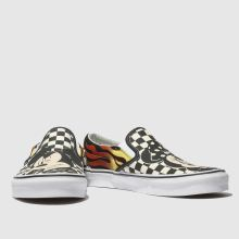 womens black   white vans classic slip mickey flame trainers  28992e178