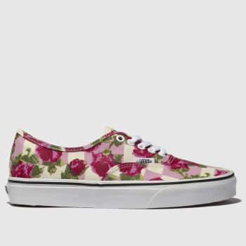 Vans Cream & Pink Authentic Romantic Floral Womens Trainers