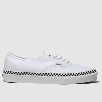 Vans White Authentic Check Foxing Womens Trainers