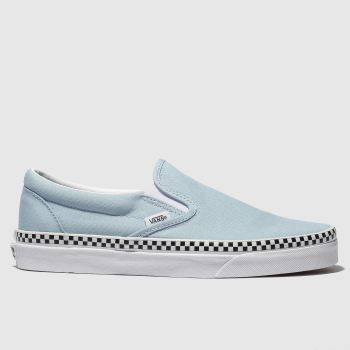 Vans Pale Blue Classic Slip Check Foxing Womens Trainers