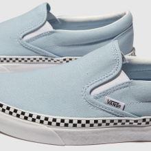 light blue checkered vans slip ons