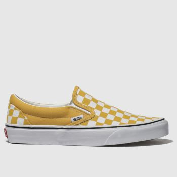 fe9dec207476 Vans Yellow Classic Slip Checkerboard Womens Trainers