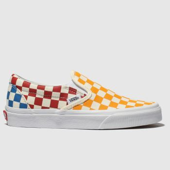 f66cdfae45 Vans Multi Classic Slip Checkerboard Womens Trainers