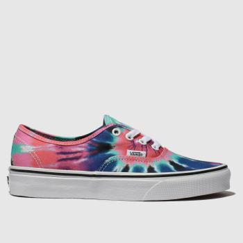 Vans Pink & Blue Authentic Tie Dye Womens Trainers