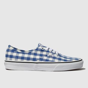 Vans Navy & Stone Authentic Gingham Womens Trainers