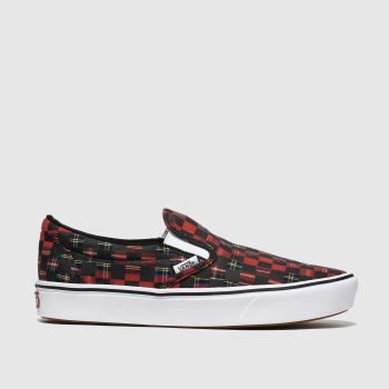 Vans Red Comfycush Slip-On Womens Trainers