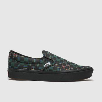 Vans Black & Green Comfycush Slip-on Womens Trainers