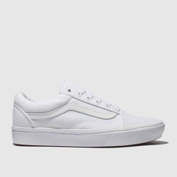 654da638fe Vans White Comfycush Old Skool Womens Trainers
