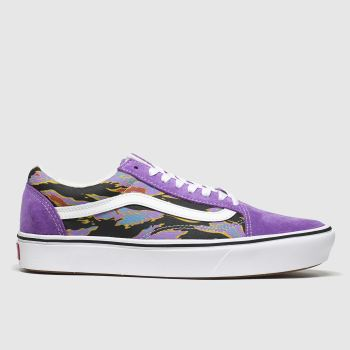 Vans Purple Comfycush Old Skool Womens Trainers