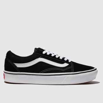 Vans Black & White Comfycush Old Skool Womens Trainers#