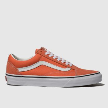 Vans Orange Old Skool Suede Womens Trainers