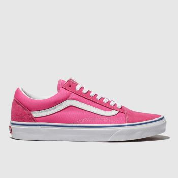dbd6987660 Vans Pink Old Skool Suede Womens Trainers