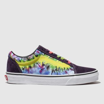 Vans Purple & Yellow Old Skool Tie Dye Womens Trainers