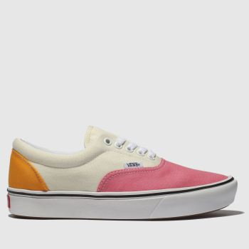 Vans Cream & Pink Comfycush Era Womens Trainers