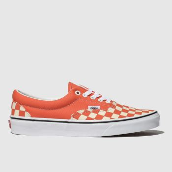 Vans Orange Era Checkerboard Womens Trainers