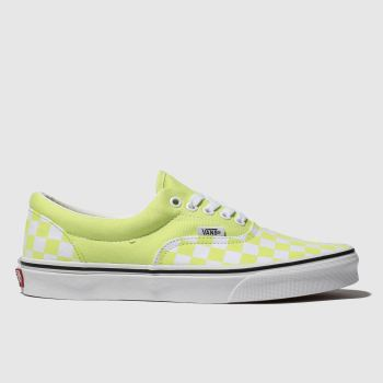 Vans Lime ERA CHECKERBOARD Trainers