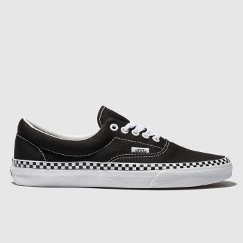 Vans Black & White Era Check Foxing Womens Trainers