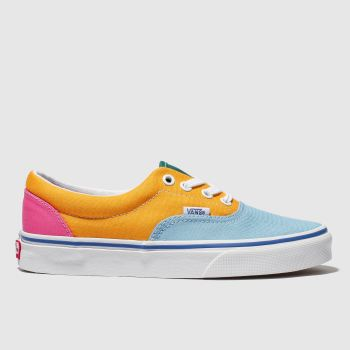 29262987ca82b5 Vans Blue   Yellow Era Canvas Womens Trainers