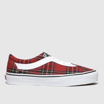 Vans White & Red Bold New Issue Plaid Womens Trainers