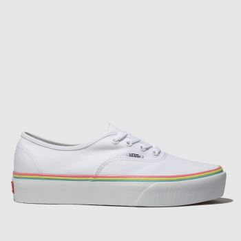 Vans White Authentic Platform 2.0 Womens Trainers