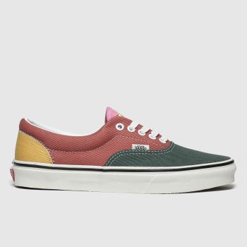vans green & red era varsity trainers