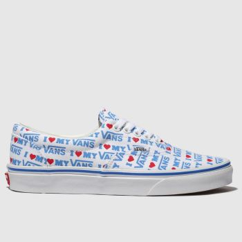 vans white & blue era i heart vans trainers
