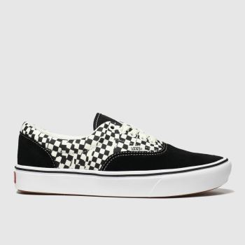 Vans Black & White Comfycush Era Tear Check Womens Trainers
