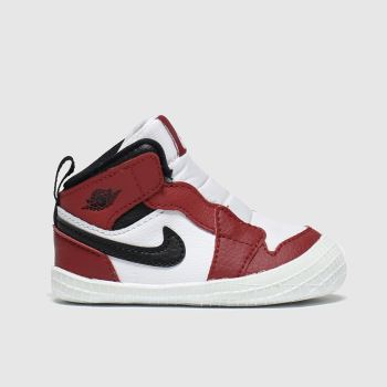 Nike Jordan White & Red 1 Crib Unisex Crib