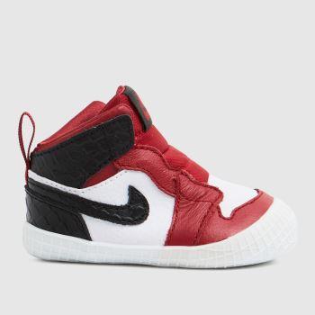 Nike Jordan Black & Red 1 Crib Bootie Unisex Crib