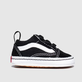 Vans Black & White Old Skool Crib c2namevalue::Unisex Crib#promobundlepennant::£5 OFF BAGS