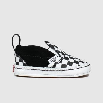 Vans Black & White Slip-on V Crib c2namevalue::Unisex Crib#promobundlepennant::£5 OFF BAGS