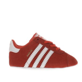 ADIDAS RED GAZELLE BABY TRAINERS
