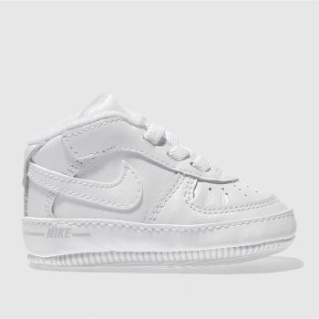 Nike White AIR FORCE 1 Unisex Crib