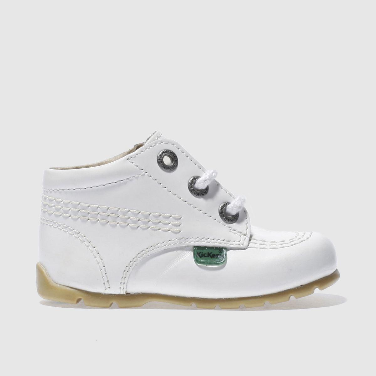 Kickers White Kick Hi Shoes Baby