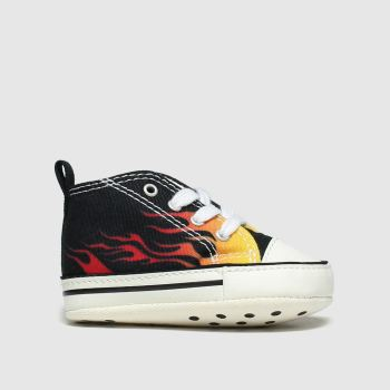 Converse Black & Orange 1st Star Flame Unisex Crib